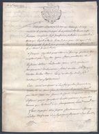 Véritable Parchemin Manuscrit Acte Notarié Notaire De Rombas 18ème 19 Mars 1778 Moselle Beau Cachet ( Timbre Fiscal ) - Manuscritos