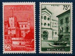 MON  1954  Vues De La Principauté  N°YT 397-398  ** MNH - Neufs