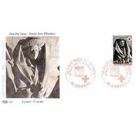 FDC PAC 945 - Croix Rouge 73 (1780) - Sépulcre De Tonnerre - 1/12/1973 Cognac - 1970-1979