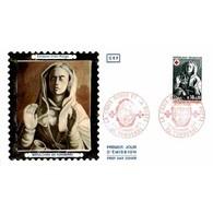 CEF Soie - Emission Croix Rouge 73 (1779) - Sépulchre De Tonnerre - 1/12/1973 Tonnerre - 1970-1979