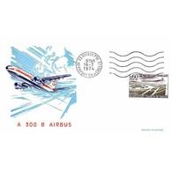 FDC - Aéroport De Paris Roissy Charles De Gaulle - 16/3/1974 Paris - 1970-1979