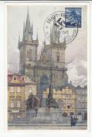 Zwei Jahre Im Grossdeutschen Reich Special Postmark 1941 Prague On Postcard B200120 - Covers & Documents