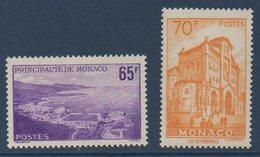 MON  1957   Vues De La Principauté   N°YT 487-488  ** MNH - Monaco
