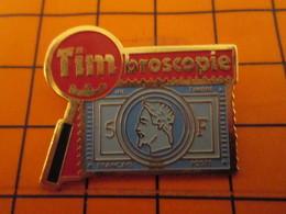 0220 Pin's Pins / Beau Et Rare : Thème POSTES / LA POSTE TIMBROSCOPIE TIMBRE-POSTE NAPOLEON III - Poste