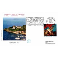 FDC N° 1073 - Nature - Le Parc National Marin De Port-Cros - 15/4/1978 Hyères + Flamme - 1970-1979