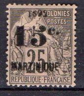 MARTINIQUE ( POSTE ) : Y&T N°  30  TIMBRE  NEUF  AVEC  TRACE  DE  CHARNIERE , A  VOIR . - Martinique (1886-1947)