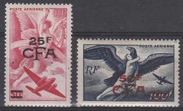 CFA PA 46** + 47** - 25f.cfa S/ 50 ROUGE + 50f. Cfa S/ 100 BLEU FONCE - Réunion (1852-1975)