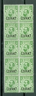 Great Britain Offices In Turkey 35 Overprint LEVANT MNH Block Of Ten Cat $22.50 US A04s - Unclassified