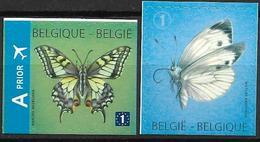 2012  Belgien Belgique Mi  4301-2 DU  **MNH   Schmetterlinge. - Belgique