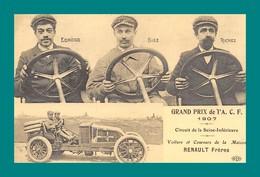 REPRODUCTION Grand Prix De L' ACF 1907 Voiture  Et Coureurs De La Maison Renault Freres - Grand Prix / F1