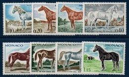 MON  1970 Chevaux Pur Sang    N°YT 831-838  ** MNH - Monaco