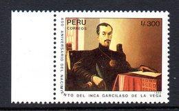 Perou Peru 0900 Garcilaso De La Vega, écrivain - Football