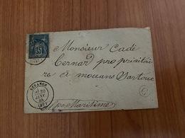 LETTRE Du 30 Janvier 1884 De  SERANON -Pour Mouans Sartoux - Boite Rurale C  - ( Port Offert ) - Postmark Collection (Covers)