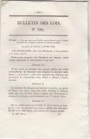 Bulletin Des Lois 796 De 1841 - Ecole Normale -  - Pont Suspendu Sur Torrent Du Drac Isère Avec Tarif Péage - Décrets & Lois