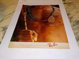 ANCIENNE   PUBLICITE LUNETTE RAY BAN 1982 - Habits & Linge D'époque