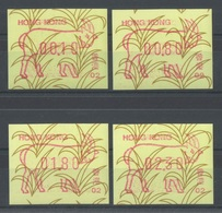 Hong Kong - Distributeurs - YT 6A (4 Valeurs, Code 02) ** MNH - 1991 - Année Du Bélier - Distributeurs