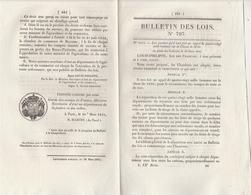 Bulletin Des Lois 797 De 1841 - Droits Remorquage Sur Navires Entrant Dans Bayonne Basses Pyrénées - Décrets & Lois