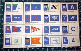 BROWN'S FLAGS ANF FUNNELS SHIPPING COMPANIES OF THE WORLD  RITAGLIO ORIGINAL - Dopo Il 1965