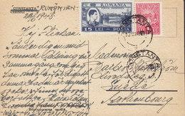 Romania PPC Constanta Cazinoul CONSTANTA 1948 To Sweden Post-Steuermarke I.O.V.R. (2 Scans) - Covers & Documents