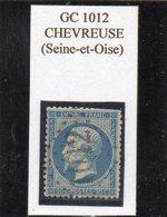 Seine-et-Oise - N° 22 Obl GC 1012 Chevreuse - 1862 Napoléon III