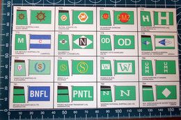 BROWN'S FLAGS ANF FUNNELS SHIPPING COMPANIES OF THE WORLD  RITAGLIO ORIGINAL - After 1965