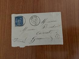 LETTRE  Du 20 /02/1880 De  SERANON Pour GRASSE -  Boite Rurale  A -  ( Port Offert ) - Postmark Collection (Covers)
