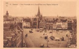 Tournai - Vue D'ensemble De La Grand Place Avec L'église St-Quentin - Export Lion, Brasserie Du Lion,... - Tournai