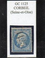 Seine-et-Oise - N° 22 Obl GC 1125 Corbeil - 1862 Napoléon III