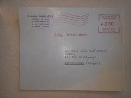 Enveloppe De Maître CLAUDE SOULIERE  .AVOUE PLAIDANT à VERDUN (Meuse) 55.affranchissement Mécanique - France