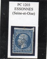 Seine-et-Oise - N° 14A (entamé) Obl PC 1203 Essonnes - 1853-1860 Napoleon III
