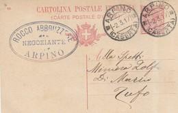 Arpino. 1917. Annullo Guller ARPINO (CASERTA), Su Cartolina Postale, Con Testo. Annullo A Tampone PUBBLICITARIO - Marcofilía