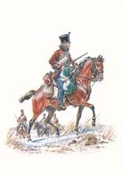Illustree Leliepvre Cavaliers De L Empire Hussard De Chamborant En Campagne 2 Eme Régiment   Armée Napoleon - Illustrateurs & Photographes