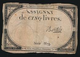 ASSIGNAT DE CINQ LIVRES  17?? - Assignats