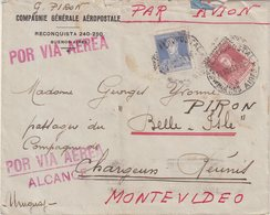 ARGENTINE : PA . VIA AEROPOSTALE . POUR L'URUGUAY . GRIFFE POR VIA AEREA ALCANCE . 1931 - Argentina