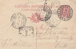 Castelforte. 1917. Annullo Guller CASTELFORTE  (CASERTA) + T R TUFO (CASERTA), Su Cartolina Postale, Con Testo. - 1900-44 Victor Emmanuel III