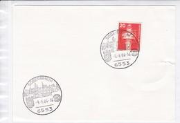 BRD.Mi:848 Sonderstempel: 6553 Sobernheim, 6.6.1984 - Affrancature Meccaniche Rosse (EMA)