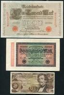 LOT DE 5 BILLETS D'ALLEMAGNE ET AUTRICHE - Monnaies & Billets