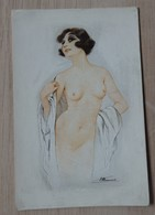 Illustrateur: S. Meunier - Femmes Nues - SEINS NUS- Circulé: 1918 - 2 Scans - Illustrators & Photographers