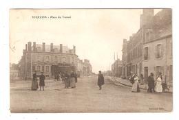 CPA 18 VIERZON  Place Du Tunnel Animation Maisons Peu Commune 1904 - Vierzon