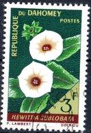 DAHOMEY, FLORA, FIORI, FLOWERS, 1967, 3 F., FRANCOBOLLO USATO Mi:DY 299, Scott:DY 227, Yt:DY 247 - Benin – Dahomey (1960-...)