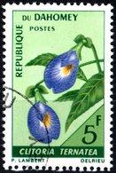 DAHOMEY, FLORA, FIORI, FLOWERS, 1967, 5 F., FRANCOBOLLO USATO (0,55) Mi:DY 300, Scott:DY 228, Yt:DY 248 - Benin – Dahomey (1960-...)