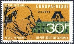 DAHOMEY, POSTA AEREA, AIRMAIL, COMMEMORATIVO, SCHUMAN, 1968, 30 F., USATO  Mi:DY 349, Scott:DY C74, Yt:DY PA78 - Benin – Dahomey (1960-...)