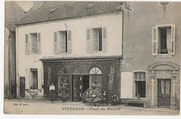 VITTEAUX  -  Place Du Marché  (devanture D'épicerie) - France