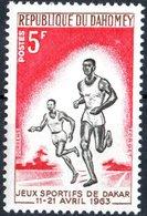 DAHOMEY, SPORT, MARATONA, RUNNING, 1963, 5 F., NUOVO (MLH*)  Mi:DY 216, Scott:DY 175, Yt:DY 195 - Benin – Dahomey (1960-...)