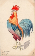 Chantecler Guitry Coq (façon Aquarelle Signé GM - Illustrateurs & Photographes