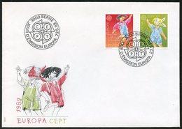 Europa CEPT 1989 Suisse - Switzerland - Schweiz FDC Y&T N°1323 à 1324 - Michel N°1391 à 1392 (o) - Europa-CEPT