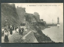 CPA - SAINT BRIEUC - Le Légué - Le Môle Et Retour De La Plage, Très Animé - Saint-Brieuc