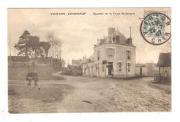 CPA 18 VIERZON  BOURNEUF Quartier De La Croix St Jacques Petite Animation Maisons Peu Commune  1907 - Vierzon