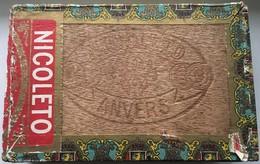 Boîte à Cigares Vintage En Bois NICOLETO ANVERS - Altri