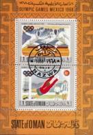 Oman Olimpiadi Mexico 1968 Scherma Calcio Soccer Sheet Perf. CTO - Oman